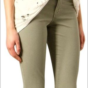 J Brand Garrison Cropped Zip Ankle Skinny Jeans 25